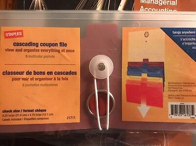 Staples Multicolor Cascading Coupon File 6 Pockets 21711