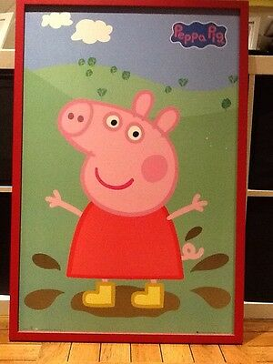 peppa pig framed picture 64cm x95cm