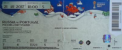 TICKET Confed Cup 21.6.2017 Russland - Portugal # Match 5