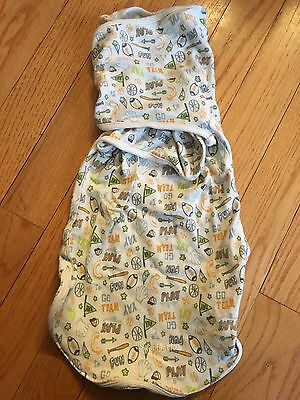 SwaddleMe Baby WrapSack by Summer Infant, Sports, LARGE 5-9 Months/14-20 lb EUC
