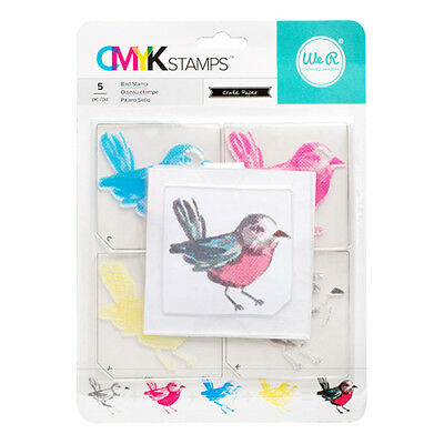 American Crafts We R Memory Keepers CMYK Bird Kit Clear Layered Stamps WR660543