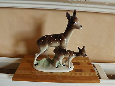 Vintage ornament  Deer with Baby. Jems. Holland