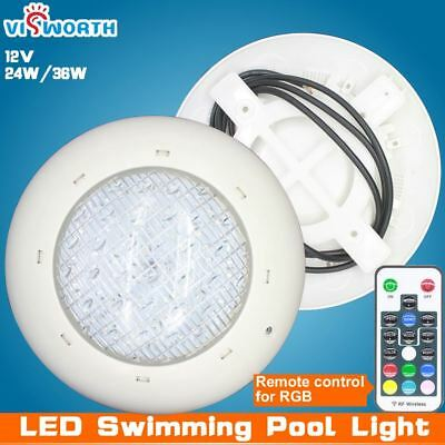 waterproof underwater pool light 24w 36w AC/DC 12v RGB + Remote controller