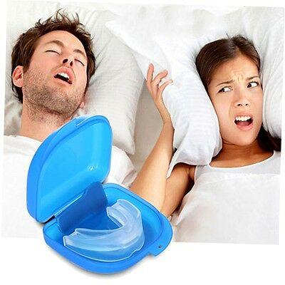 Mouth Guard Stop Teeth Grinding Anti Snoring Bruxism with Case Box Sleep Aid Z#