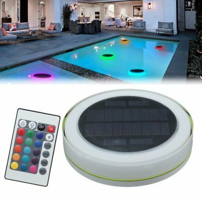 Under water Light Solar Powered Floating Waterproof LED Light + Remote Control