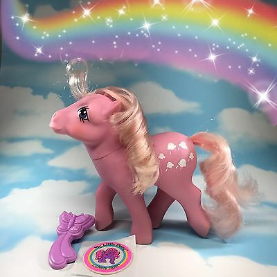 G1 Vintage My Little Pony Lickety Split With Brush And Puffy Sticker