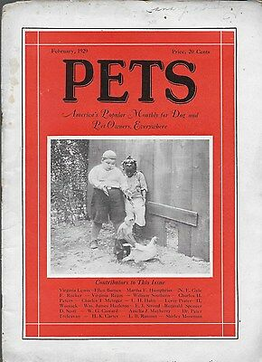 Pets Monthly Dog And Pet Owner Magazine Vintage February 1929 Illustrated Nice!