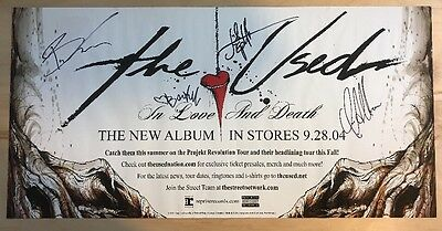 The Used Signed Poster In Love And Death 2004