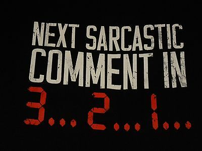 NWT Mens Next Sarcastic Comment in 3-2-1 Humorous Graphic Black T Shirt Size XL