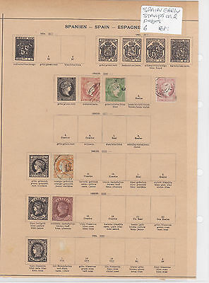 Spain Early Stamps on 2 Pages Ref: R6845