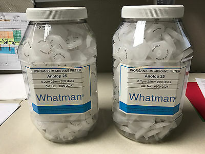 Whatman 6809-2024 Anotop 25 Syringe Filter, 25mm, 0.2 Micron PK/200