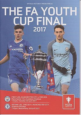 Manchester City v Chelsea FA Youth Cup Final both legs 18/4/17 & 26/4/17