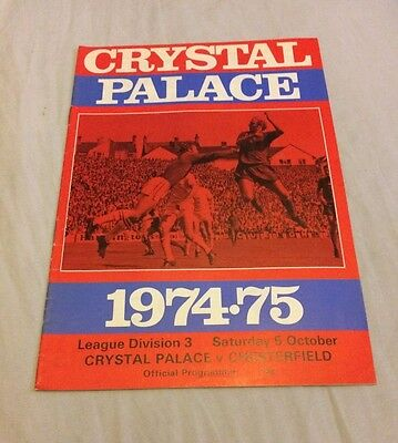 Crystal Palace vs Chesterfield 1974 - Football Programme