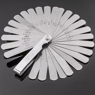 New Tappet Valve Feeler Gauge 26 Leaves Blades Metric Inch Thickness 0.04-0.63mm