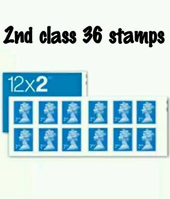 NEW Royal Mail Stamps 2nd CLASS Book of 12 x 3 UK Postage sale !!!