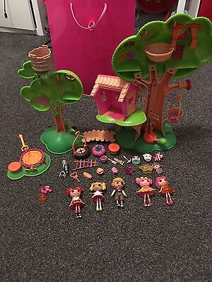 Lalaloopsy Tree House, Dolls, Trampoline And Accessories