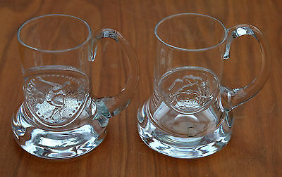 """MUNICH OLYMPICS 1972"" & ""HART & ROSE""c1969's GLASS TANKARDS-FRANK THROWER."