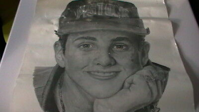 NEW KIDS ON THE BLOCK pencil portrait of JOEY