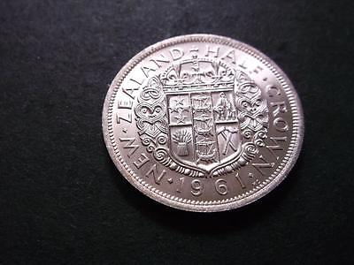 New Zealand 1/2 Crown 1961 Full Details And Luster Key Date Z957