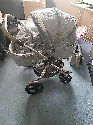 Mothercare Orb Grey Canvas Pushchairs Single Seat Stroller