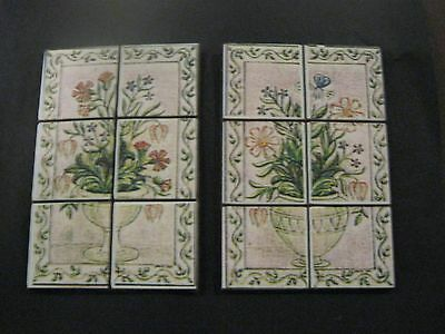 Dollshouse 1/12th.Scale Tiled Panels,for Kitchen/Bathroom.
