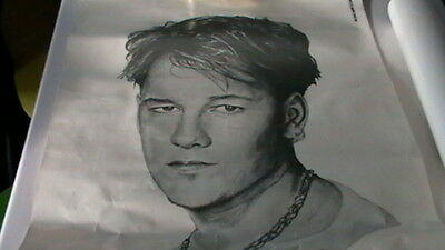 NEW KIDS ON THE BLOCK pencil portrait of DONNiE