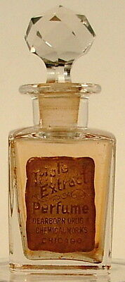 Triple Extract Perfume Bottle Dearborn Chemical Chicago