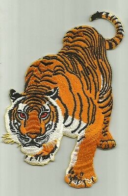 """tiger"" Iron On Biker Patch Harley Davidson Honda Rockabilly Hog"