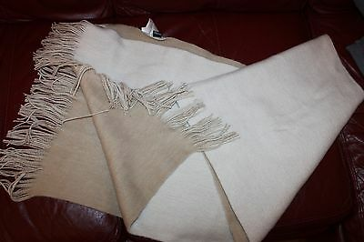 Womens Ladies H&m Beige Large Soft Touch Shawl Wrap Stole Scarf Throw Fringes