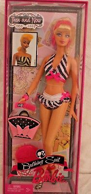 "Barbie12""  Bathing Suit Then and Now 1959-2009 doll, new in box, w/accessories"