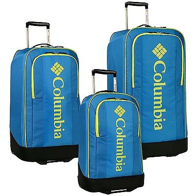 "Columbia Chill Out Three Piece Rolling Luggage Set (20""/24""/28""), Brilliant Blue"