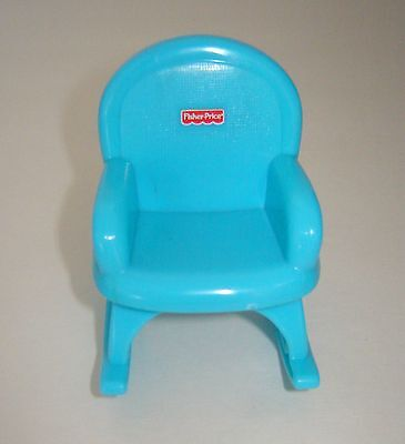 New Mattel Fisher-Price Rocking Chair Fits/for Barbie Sister Tiny Dollhouse Doll