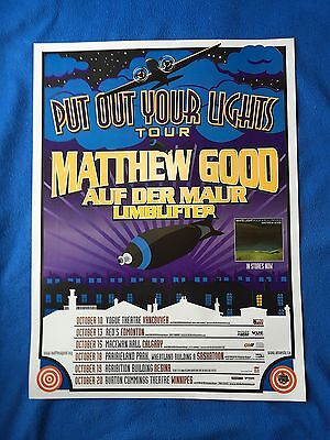 "Matthew Good Band - Put Our Your Lights Concert Tour Poster ""rare"""