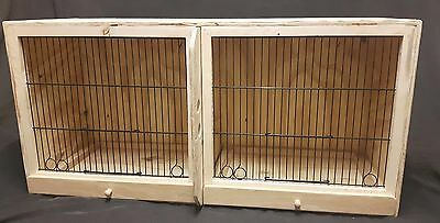 Budgie/canary/finch double breeding cage