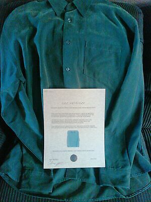 From J.s.c.  Michael Jackson  Owned Dark Green  Sueded Bruno Shirt