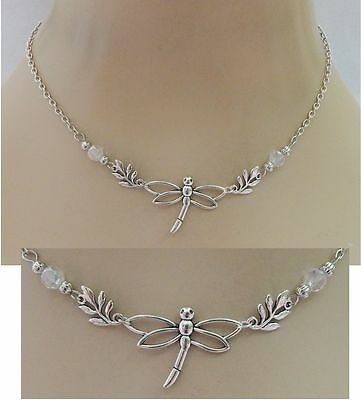 Silver Dragonfly Strand Necklace Jewelry Handmade NEW Chain Adjustable Chain