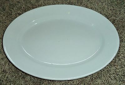 "Antique Victorian 19th C Powell&Bishop LARge 15"" White Ironstone Platter Tray LG"