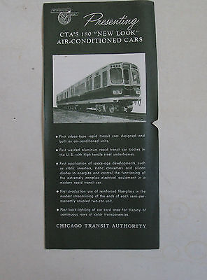 """CTA (Chicago)- brochure for """"New Look"""" cars- 1964"""