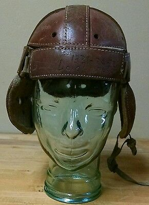 Antique Early 20s-30s  Leather Football Helmet w/ Vented Ears Stall & Dean 5435?
