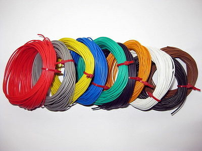 10 X 1Mtr 1.0 AMP 26AWG STRANDED EQUIPMENT WIRE 10Mtrs