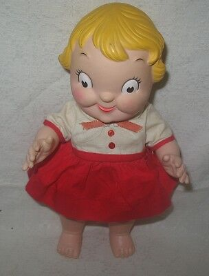 """Vintage Ideal Rubber Girl Doll 10"""" Campbell's Soup Kid"""
