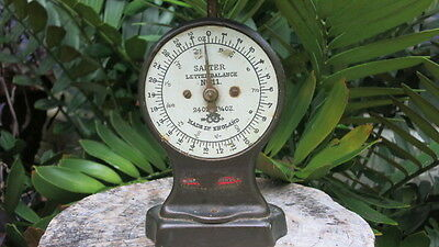 Antique  English  Brass  &   Iron  Weight  Postal  Scale