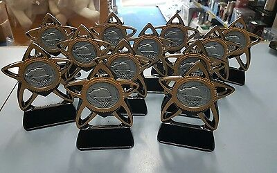 8 x New Basketball Trophies Discontinued Range engraved tags included