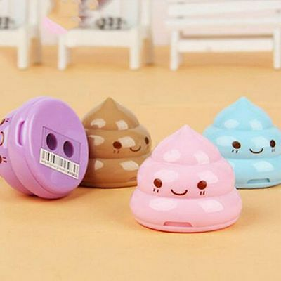 School Gift Children Home Pencil Sharpener Stationery Double Hole Emoji