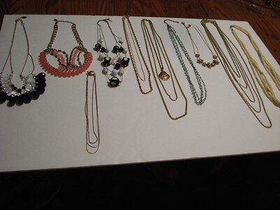 Lot of 11 Multi-Strand Jewelry  Necklaces  Chains & Beads  - Monet  -Sar. Cov.