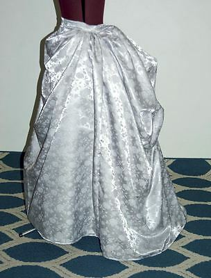 Victorian Bustle Skirts/ Drape Front Bustle Skirt/Steampunk/ Free Ship