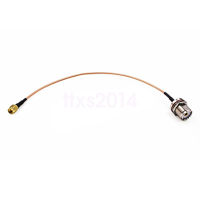 New 30cm RF Test Cable SMA-J SMA Male To SL16 M UHF Connector Adapter For Radios