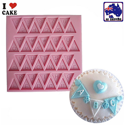 Fondant Cakes Mould Silicone Mold Letter&Number Chocolate DIY Baking HKIM61008