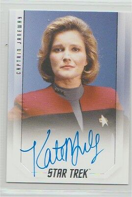 Star Trek 50th Anniversary auto card Kate Mulgrew