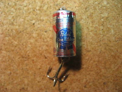 Pabst Blue Ribbon Beer Can Spinning Fishing Lure  Nice